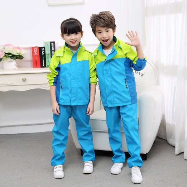 2018 Casual Children Clothing Teenage Boys Clothing Sets 12years Waterproof Windproof Boys Clothes Suits Boys Set 4-20YearsMX190916