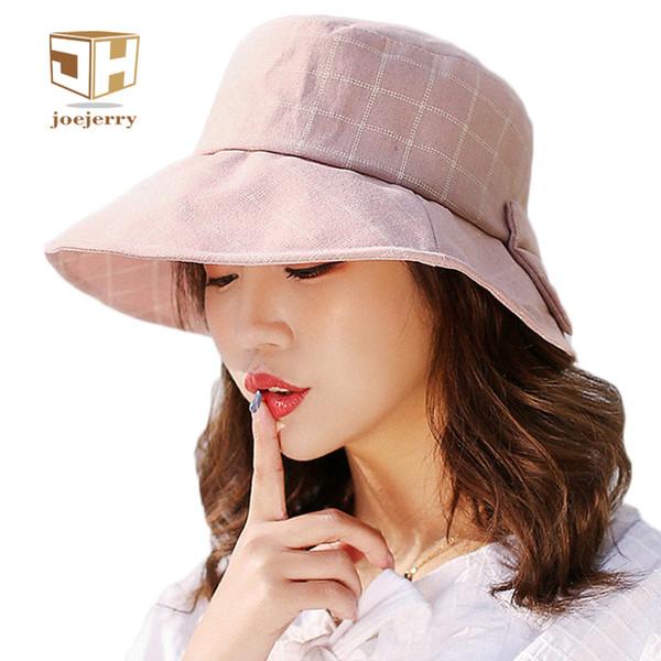 Joejerry Ekose Kova Şapka Zarif Bez Güneş Şapka Kadın Yaz Şapka Güneş Koruma Bankası Kap 2018 Yeni