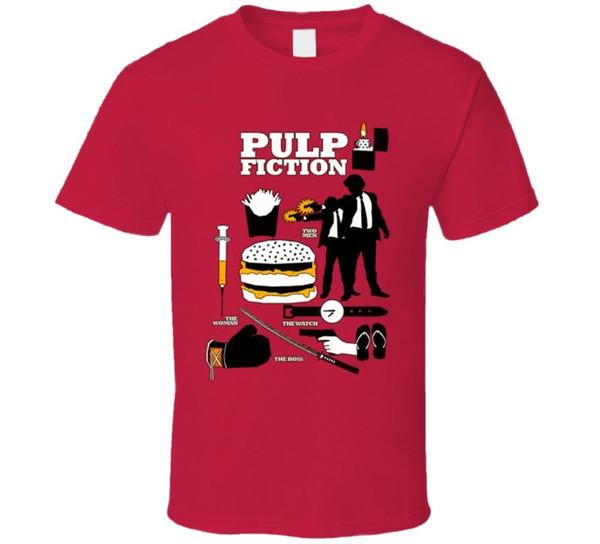 Pulp Fiction Quentin Tarantino Camiseta Estilo Rodada Estilo tshirt Tees Personalizado camisa de t com capuz hip hop t-shirt