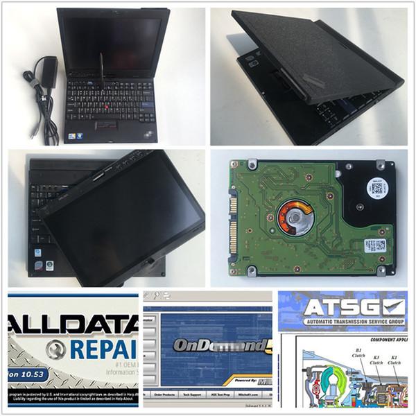 Alldata auto Repair Logiciel toutes les données v10.53 + atsg + mitch * ll avec ordinateur portable X200T tout prêt pour le diagnostic de données de voitures et de camions