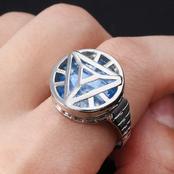 Marvel 4 Iron Man Arc Reactor Ring Infinity War Thanos Infinity Gauntlet Power Rings for Men Cosplay Jewelry