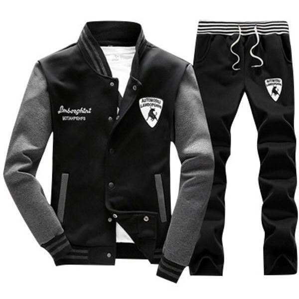 Tute da uomo di marca Bovini di moda Distintivo da ricamo Giacca con coulisse Pantaloni sportivi Designer casual Uomo Running Colothes per ragazzi