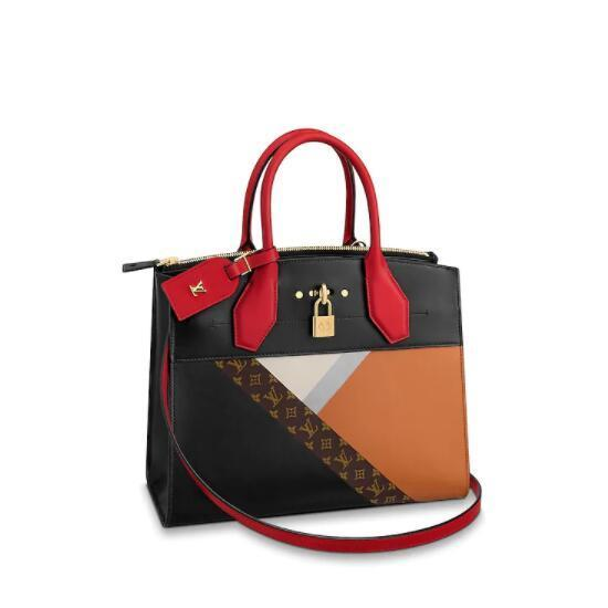 Women's LVLV designer handbags Top Quality bags wholesale Handbag Crocodilien Brillant Handbags Top Handles CITY STEAMER TRICOLOR Facto