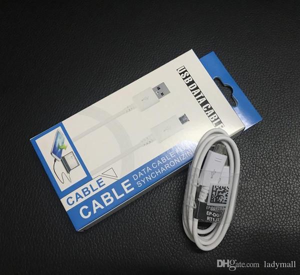 1.2 m 4 pés micro usb v8 cabo carregador de sincronização de dados linha de carregamento para o telefone samsung galaxy s6 s7 s4 note4 s4 com caixa de pacote de varejo