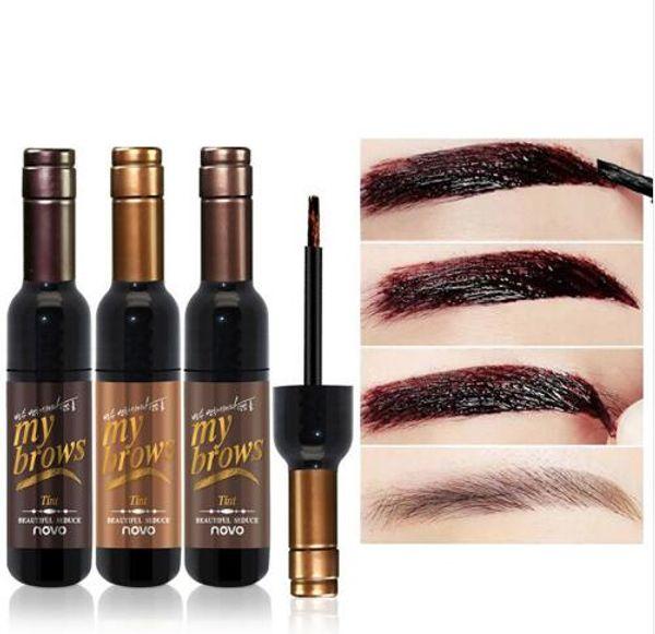 New Eyebrow Black Coffee Gray Peel Off Eye Brow Tattoo Shadow Eyebrow Gel Cosmetics Makeup for Women High Pigment Makeup