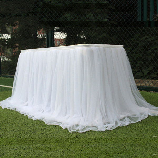 Colorful table skirt tutu tulle tablecloth for wedding party table decoration home textile tablecloth Accessories