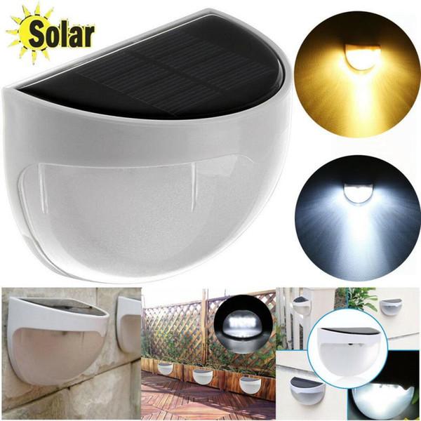 Waterproof 6 LED Solar Power Light Sensor Wall Outdoor Garden Patio Fence Lamp