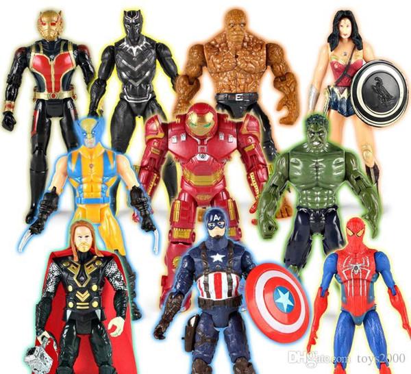The Avengers PVC Action Figures Marvel Heros 15cm Iron Man Spiderman Captain America Ultron Wolverine Figure Giocattoli Spedizione gratuita