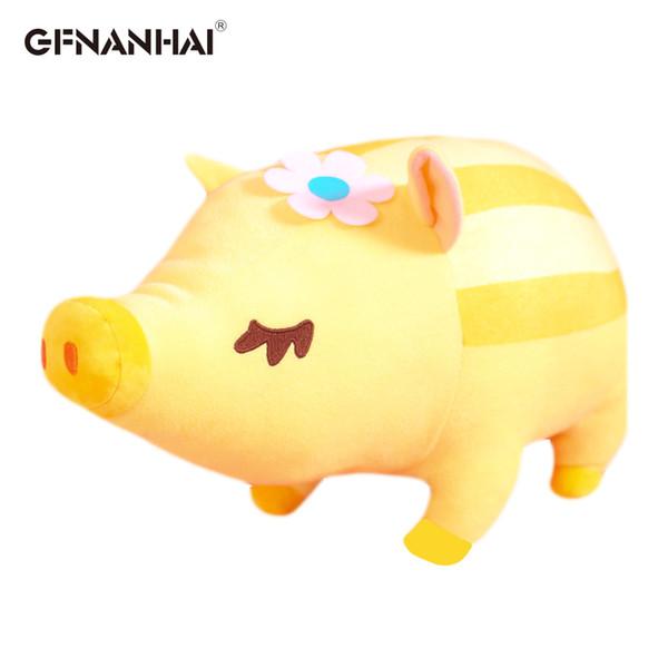 1pc 40/60cm kawaii Striped Wild Boar Plush Toy Stuffed Soft Cute Lying Animal Pig Dolls Home Decor Children Baby Birthday Gifts