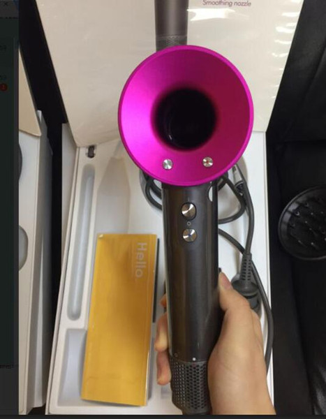 Top qualité Non Ventilateur vide Sèche-cheveux Outils Salon professionnel Séchoir Heat Super Speed Ventilateur sec Sèche-cheveux EU / US / UK plug