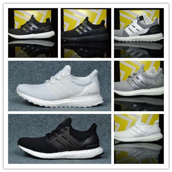 2019 Ultra boost 3.0 4.0 Мужчины Лучшее качество Ultraboost обувь Oreo Grey мужчины Женщины Primeknit Oreo CN
