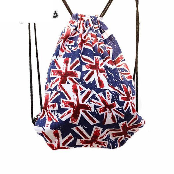 Women Men 3d Print Drawstring Backpack Canvas Flag Travel Bag Summer Beach Bags Ladies Bucket Bags