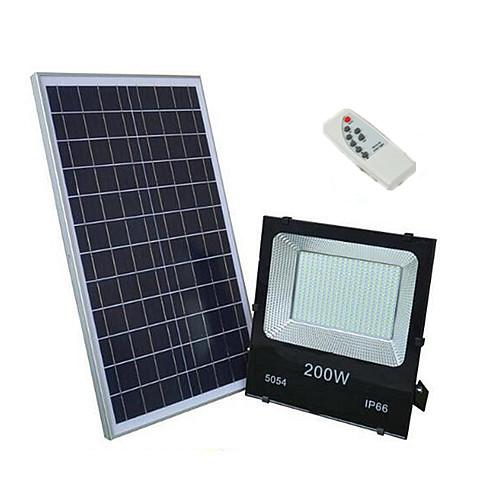 Luz de inundación solar al aire libre LED 200W 70-85LM Lámpara impermeable Reflector IP65 Batería recargable Panel Potencia Monocristalino Silicio Celular 40W