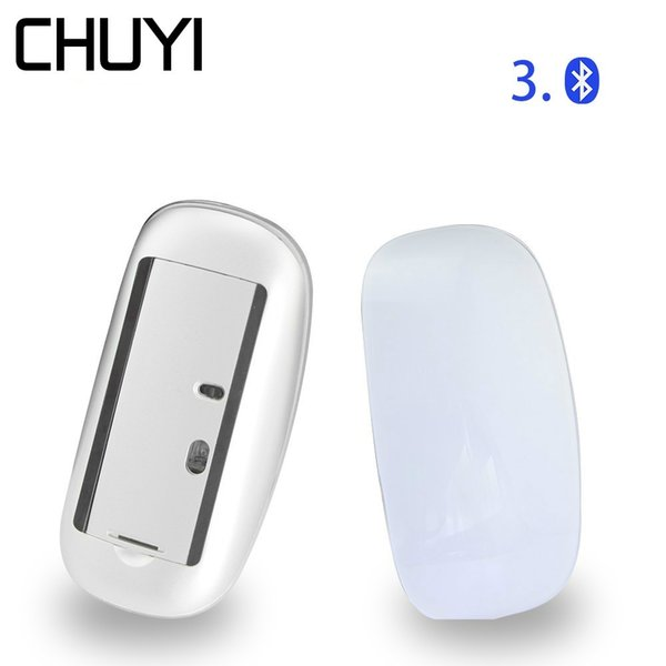 CHUYI Bluetooth Wireless Touch Mouse Ultra Thin Optical Magic Mice 1600DPI Slim Computer Mini Gamer Mause For PC Laptop Desktop