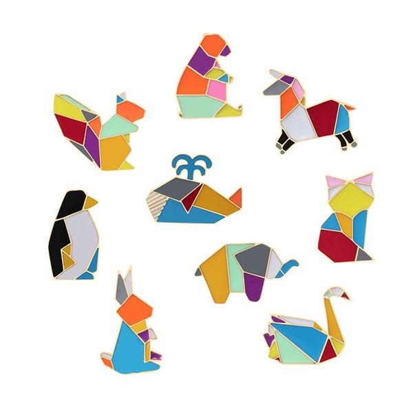 2019 Fashion Origami Crane Rabbit Penguin Elephant Cat Goose Whale on