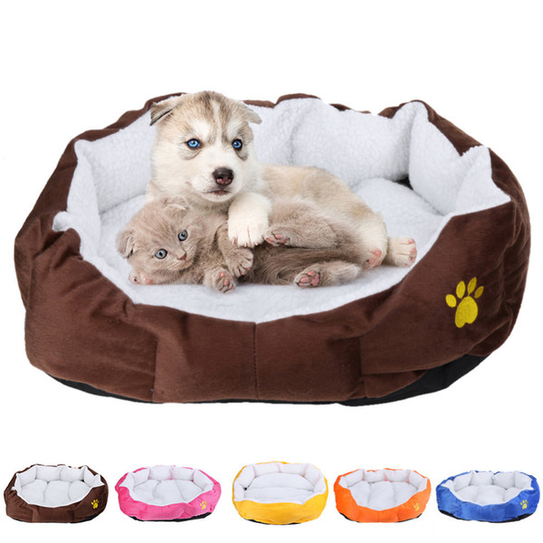 Pet Dog Bed Warming Dog House Soft Material Nest Dog Baskets Fall and Winter Warm Soft Fleece Mat Kennel For Cat Puppy D19011201