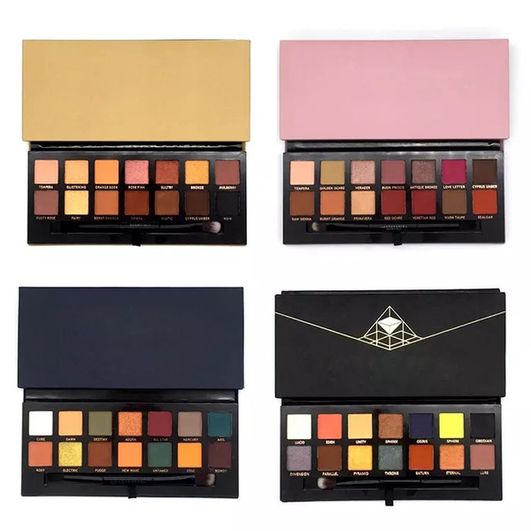 Hot Makeup Modern Lidschatten Palette 14colors limitierte Lidschatten-Palette mit Pinsel rosa Lidschatten-Palette DHL Shipping + Gift