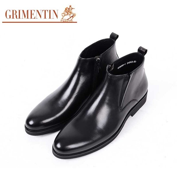 wholesale luxury men ankle boots genuine leather soft comfortable business office mens shoes