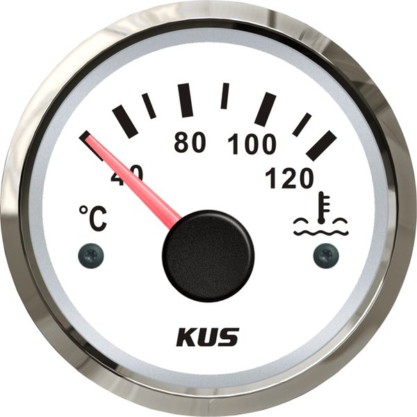 """KUS 52mm(2"""") Car Water Temp Temperature Gauge Meter Indicator 40-120Degree 12V 24V"""