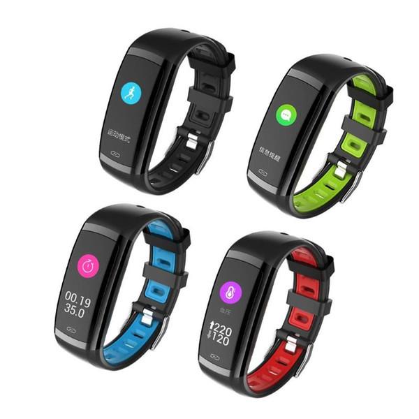 Inteligente Pulseira Heart Rate Banda Monitor de Sono Rastreador De Fitness Cor Da Tela Esporte Banda com iOS Android APP para Esporte fitness