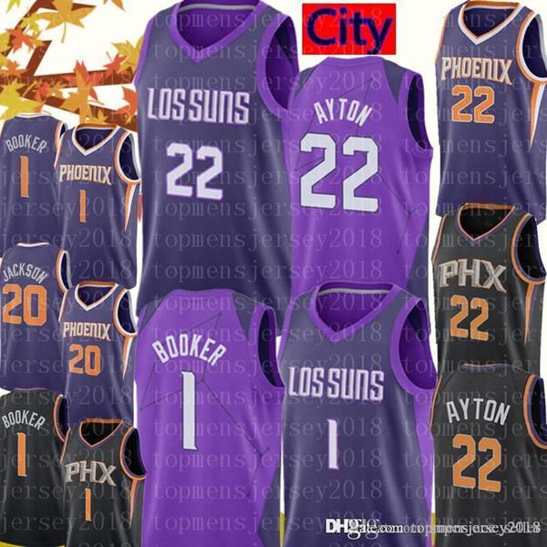 34d6cdb854e2 Phoenix New City Suns DeAndre 22 Ayton Jersey Mens Devin 1 Booker Josh 20  Jackson Basketball