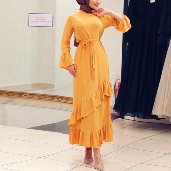 sarı elbise l
