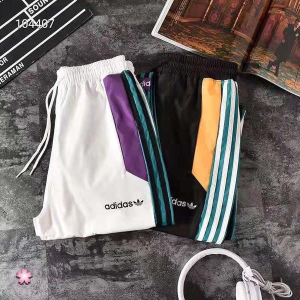Mens Luxury Jogger Pants Новые фирменные спортивные штаны на шнуровке High Fashion Striped Color Side Мужские дизайнерские бегуны Размер M-3XL iiceeb