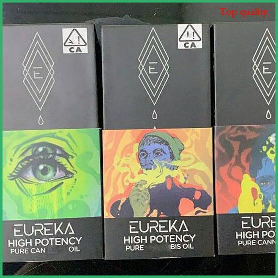 Date Eureka panier En céramique vape panier 0.8 ml En Verre Épaisse Huile Roves Vapor Childproof Box Réservoir Aucune Fuite Atomizer Diamond Packahing