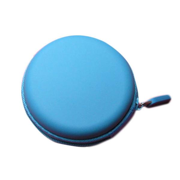 Brand New Colourful Portable Mini Round Portable Coin Wallet Purse Hard Key Earphone Holder Case Bag Versatile Sac Main