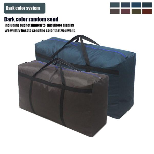 Yüksek kaliteli ekstra büyük Kalınlaşmış su geçirmez Açık Oxford kumaş dokuma çanta bagaj paketi seyahat çantası büyük Duffel Çanta 90 * 50 * 27 cm