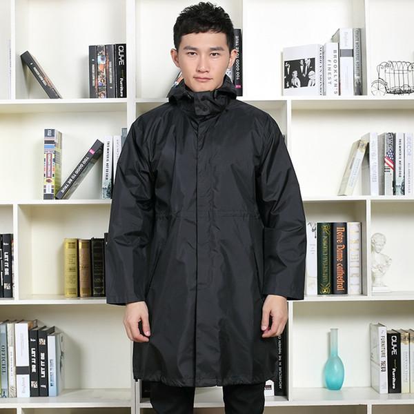 Vêtements imperméables pour femmes Vêtements de pluie noirs couvre les vêtements imperméables Capa de chuva chubasquero Poncho imperméable à capuche manteau de pluie # 319577