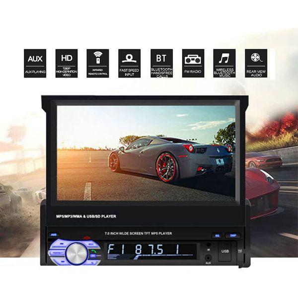1 Din Autoradio mit Retractable Screen 7