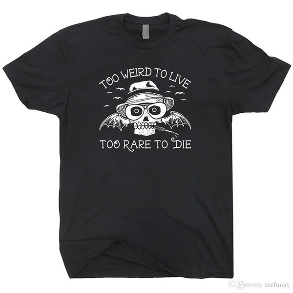 Moda 2018 Caçador De Verão S Thompson T Camisa Vintage Medo e Revolta em Las Vegas Cartaz Arte Camiseta Camiseta