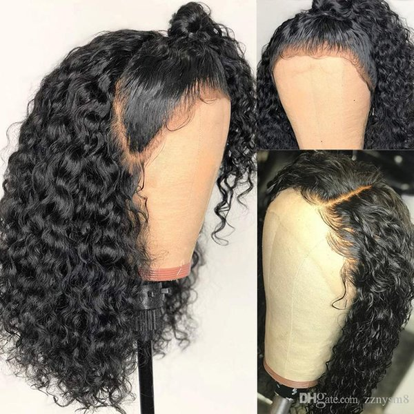 Bob Lace Front Wig 13X6 Deep Part 180% PrePlucked Brazilian Short Curly Frontal Closure Human Hair Wigs For Black Women Remy