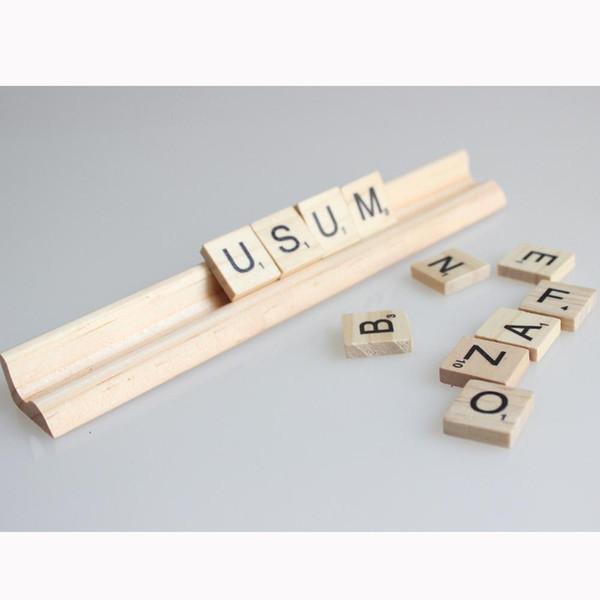 Wood Scrabble Tiles Letters Regole del supporto 19 Cm (lunghezza) Nessuna lettera Wooden Stands 20 pz