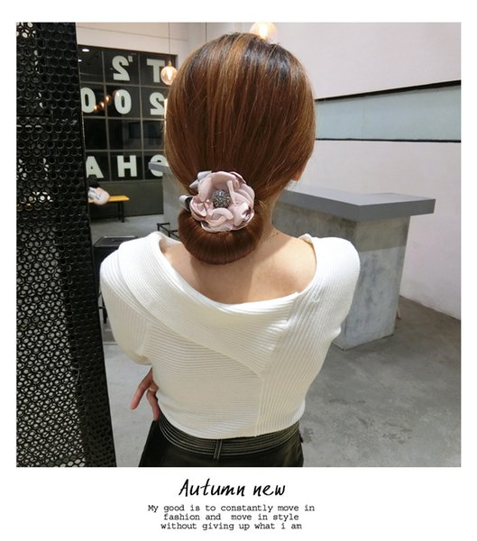 Dish Hair Implement Korean Ball Hair is Acted the Role of Hairpin Change Model Fleeciness Flower Bud Head Lazy Person Sticks Artifact Head