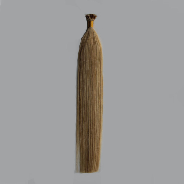 """I tip hair extensions 1g/s 100g 16""""18"""" 20"""" Remy Pre Bonded Human Hair Extension Silky Straight Professional Salon Fusion Colorful Hair"""