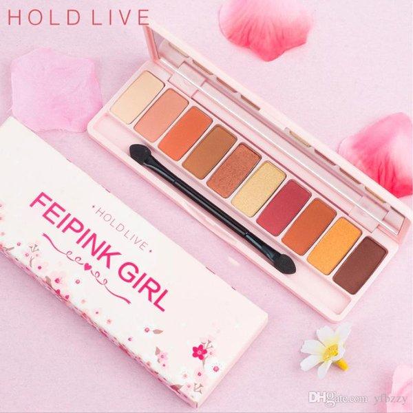 Beauty Makeup Hibana Pink Cherry Ten Color Eye Shadow Palette Waterproof Not Decolorized Lasting Girls Heart Series Wet Pink Pearl Peach