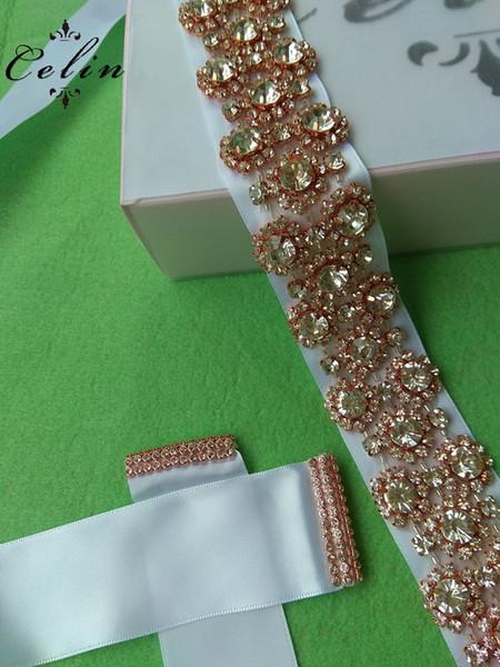 wholesale Iron On Bling rhinestone applique for Wedding Dress Crystal Clear Sliver Bridal Applique Decorative Trim