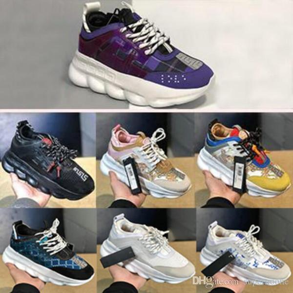 2020 New Chain Reaction Männer Frauen Luxus-Designer-Schuhe Qualität Turnschuhe Turnschuhe Freizeitschuhe mit Staubbeutel-36-45