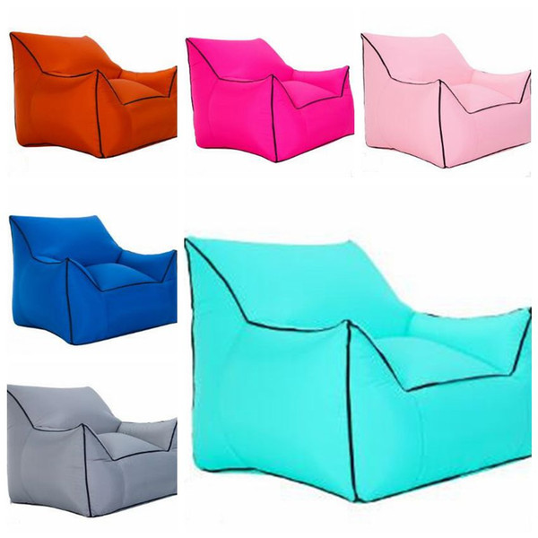 Sensational Inflatable Air Sleeping Bags Air Sofa Couch Portable Hangout Lounger Chair Lazy Inflate Camping Beach Sleeping Bed Outdoor Hammock B4536 Sleeping Bags Inzonedesignstudio Interior Chair Design Inzonedesignstudiocom