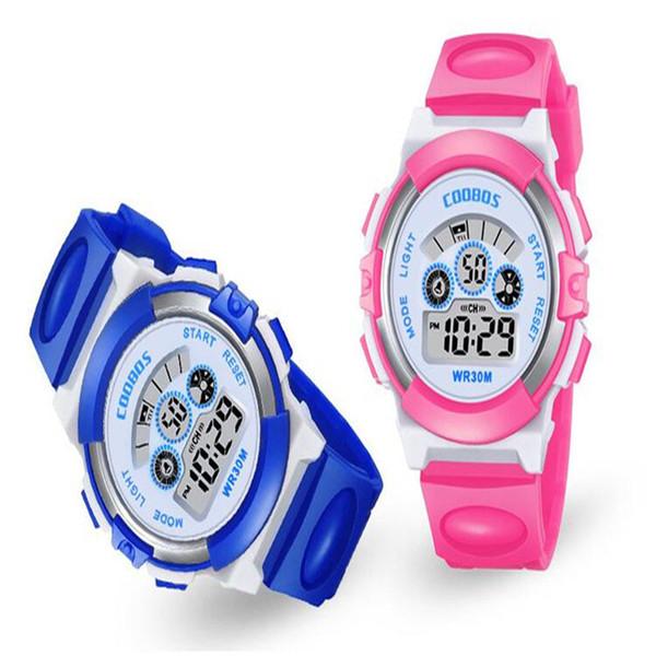 Kinder Uhr Kinder Cartoon Elektronische LED Digital Armbanduhr Junge Mädchen Leuchtende Wecker Kalender Zeit Wasserdichte Sportuhren