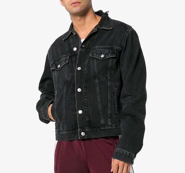 2020 Lüks Erkek Tasarımcı Denim Ceket Erkekler Kadınlar Yüksek Kalite Casual Coats Siyah Mavi Moda Marka Erkek Tasarımcısı Ceket