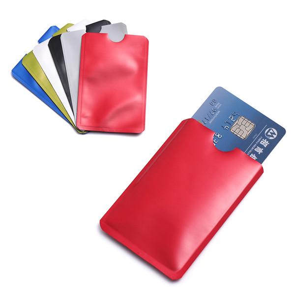 10 Pcs/Pack Smart Anti-theft Reader Lock Bank ID Case Anti Rfid Blocking Card Holder Safety Protection