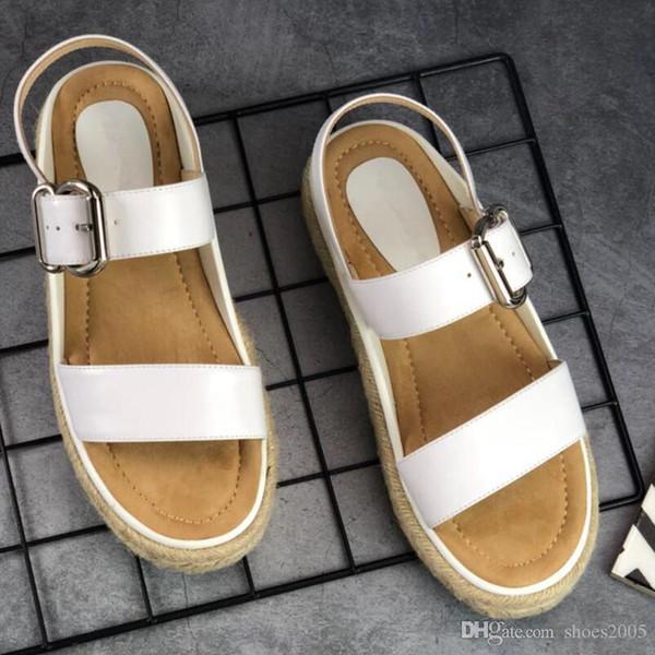 K3 Designer women's shoes for summer 2019 leather platform sandals for women Made of Italian cowhide. Fashionable joker size 35-40