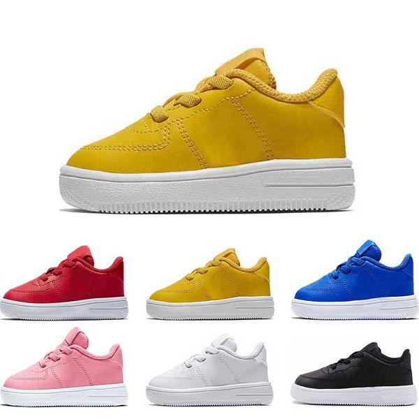 2019 crianças designer sapatos para menina meninos rosa tirple branco Oreo bule amarelo couro vermelho Plataforma tamanho da forma 22-35