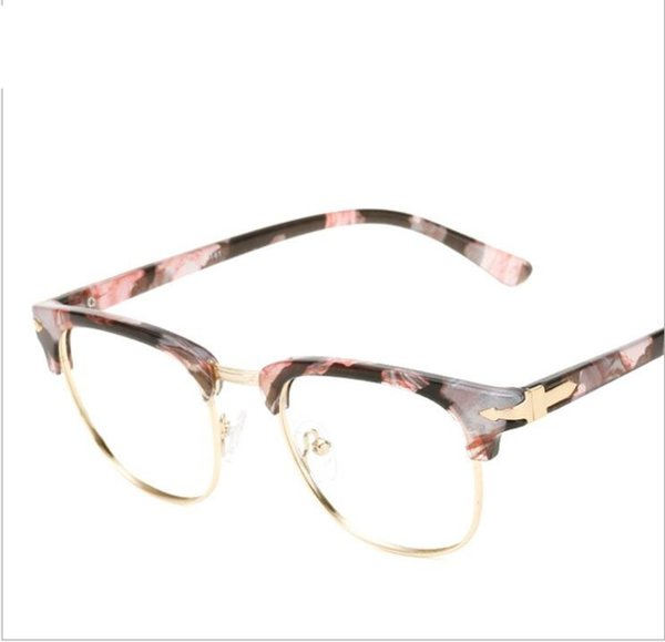 Luxury-Donna TR90 Flexible Frame Man Glasses Optical Eyeglasses Wood Half Frames for Men Women Reading Clear Lens