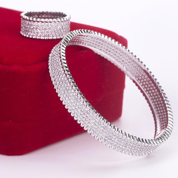 conjunto de diamante das mulheres pulseira de luxo designer de jóias ins partido quente presente acessórios artesanais de casamento pulseiras manuais