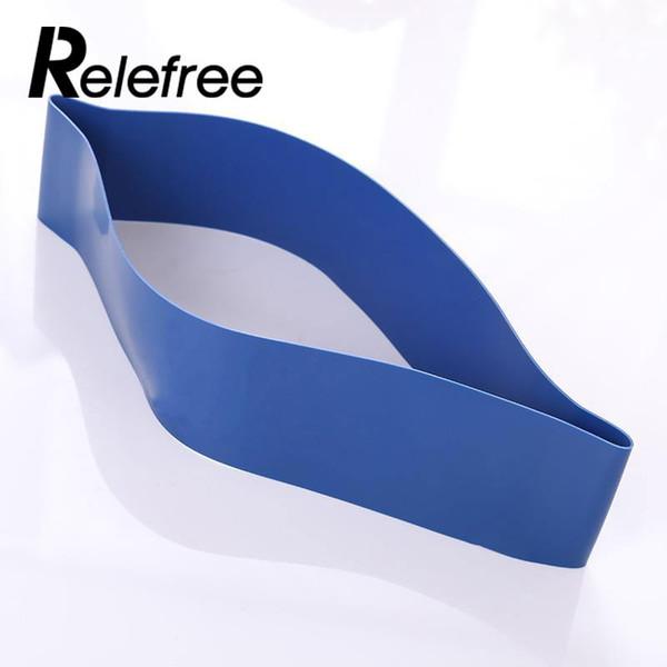 Banda de resistencia a la tensión Ejercicio Lazo Fuerza azul 0.7mm Equipo Moda