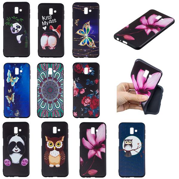 Soft TPU Back Phone Case For Samsung Note 8 9 Slim Fit Flower butterfly owl panda Case for Samsung J3 4 5 6 7 730 530 J3Emerge J6Prime Cover